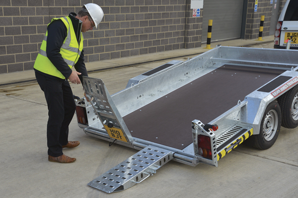 CarGO All Plant Tiltbed - Adjustable punched ramps are standard across the range.