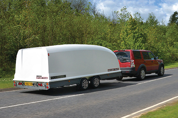 Race Shuttle 3 - Enclosed, aerodynamic shape improves towing fuel consumption.